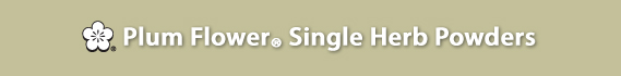Plum Flower® Single Herb