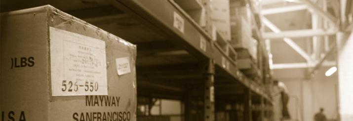 Mayway warehouse and shelves