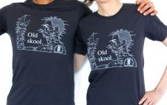 Tee - Old Skool Acupuncture (size-extra small)