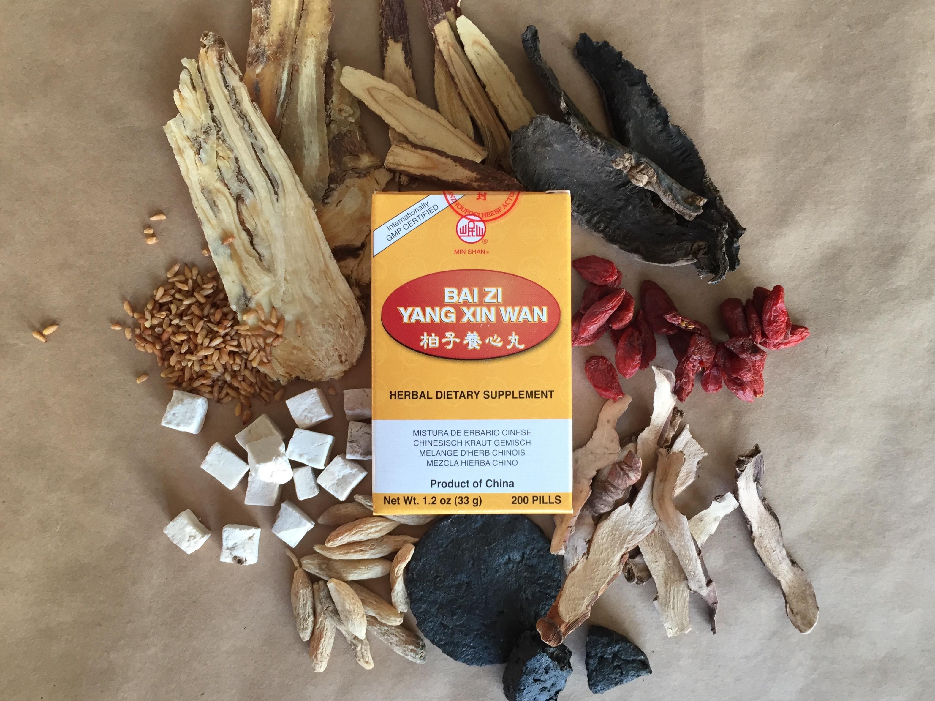 Bai zi yang xin wan with herbs