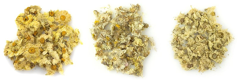 Ju Hua natural and treated with sulfur