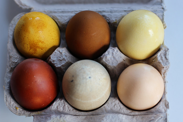 Eggs dyed with traditional Chinese herbs
