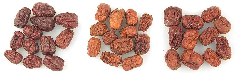 Da Zao natural and treated with sulfur