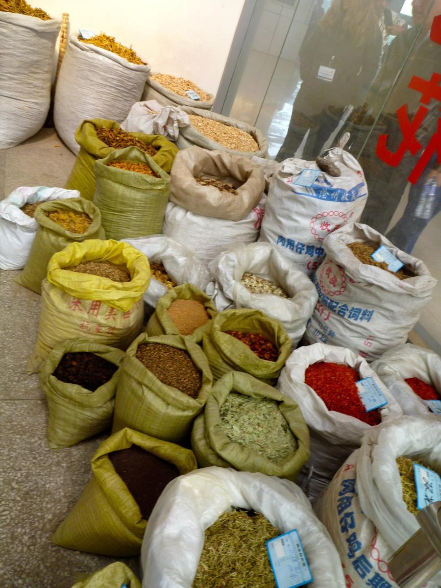 Herb market stall