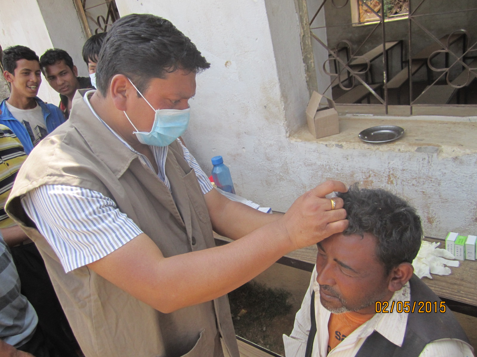 Dr. Shyam treating in Harissidhi Lalitpur