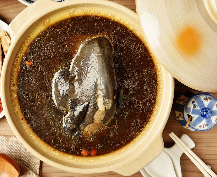 Ginseng Black Chicken Soup