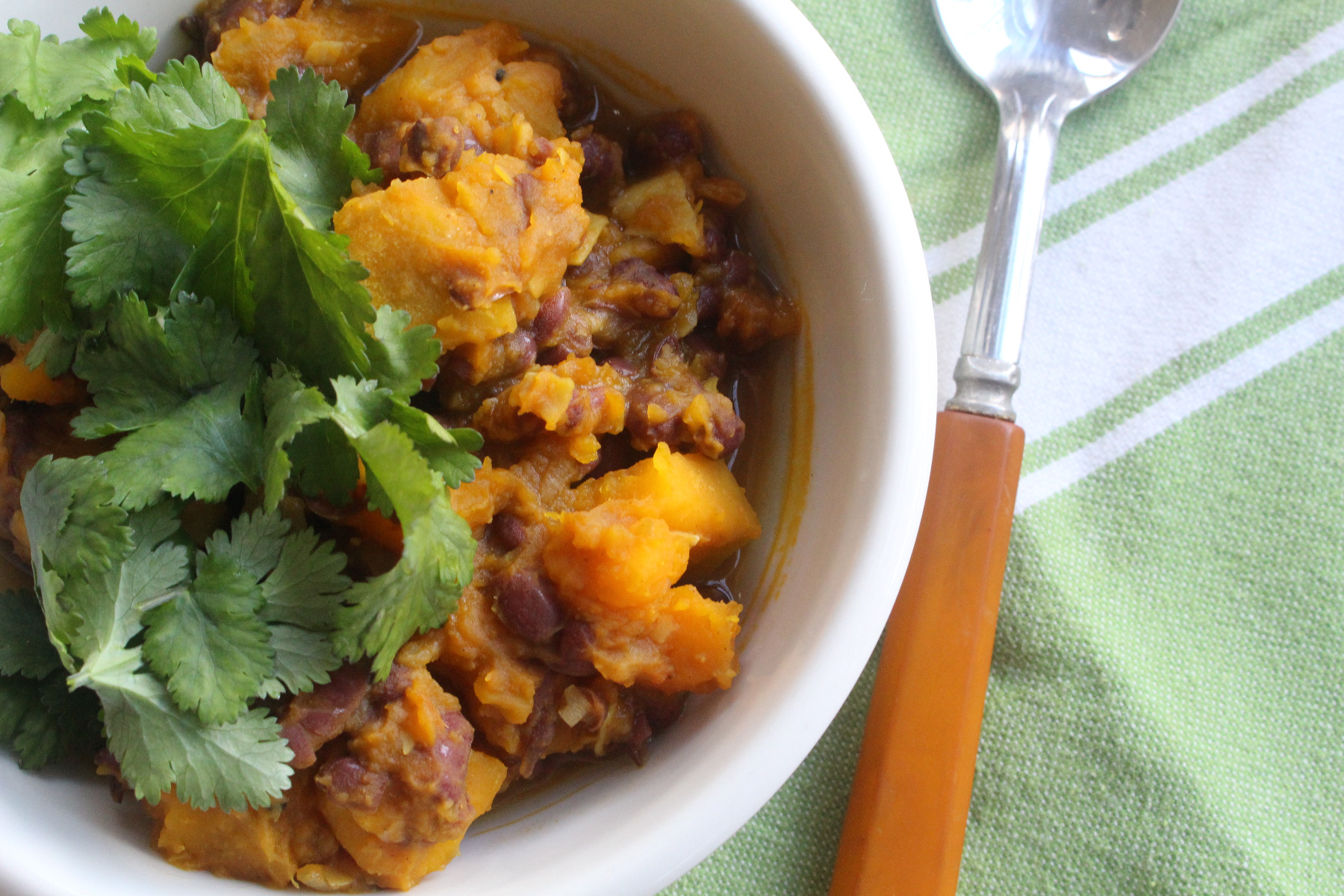 Winter squash and adzuki bean curry
