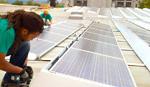 Installing 400 kilowatts of solar arrays at mayway- 1997