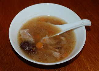 Pork Soup with Shan Yao, Bai He & Gou Qi Zi