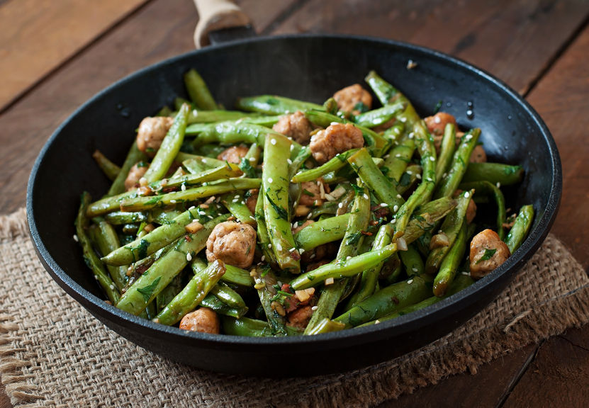 Chicken and green beans